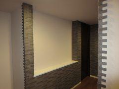 内壁に、デザインと調質機能を求めて、エコカラットを設置